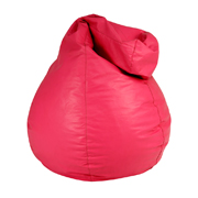 Pink Leather Bean Bag