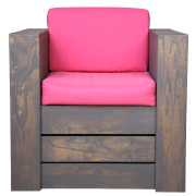 Pink Pallet Single Seater Couch