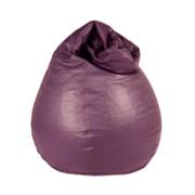 Purple Leather Bean Bag