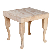 Raw Wood Side Table