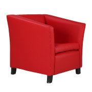 Red Club Single Seater Couch