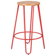 Red Hairpin Bar Stool