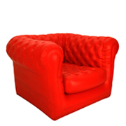 Red Blow Up Single Seater Couch