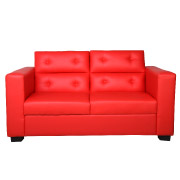 Red La Scala Double Seater Couch