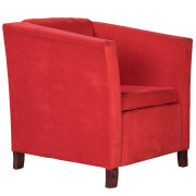 Red Suede Club Single Seater Couch