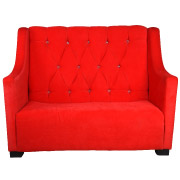 Red Victorian Double Seater Couch