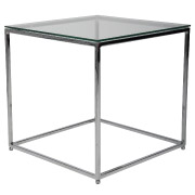 Square Glass Side Table