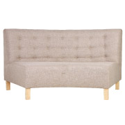 Stone Curved Booth Halfback Double Seater Couch