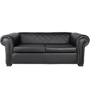 Black Madison Double Seater Couch