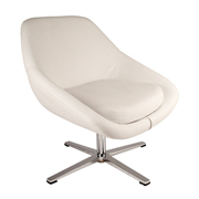 White Swivel Single Seater Couch