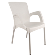 White Coco Cafe Chair