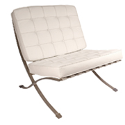 White Barcelona Single Seater Couch