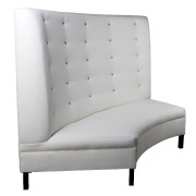 White Booth Double Seater Couch