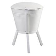 White Bucket Ottoman