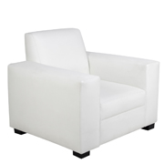 White Euro Single Seater Couch