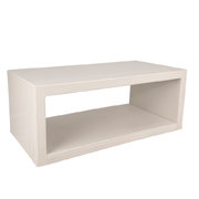 White Groove Coffee Table
