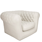 White Blow Up Single Seater Couch