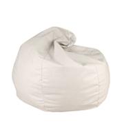 White Leather Bean Bag
