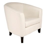 White Carla Tub Single Seater Couch