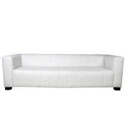 White Hudson Triple Seater Couch