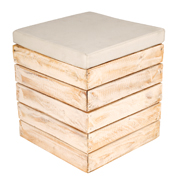 White Washed Pallet Ottoman