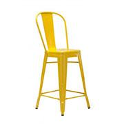 Yellow Xavier Fullback Bar Stool