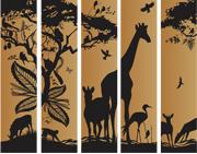 African Animal 5 Banner Set