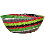 African Traditional Woven Basket Medium Assorted Colours