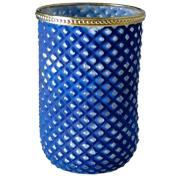 Baroque Vase Cylinder Blue