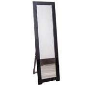 Black Glass Frame Mirror