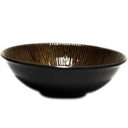 Ceramic Bowl Brown Lines