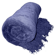 Chenille Throw Denim Blue