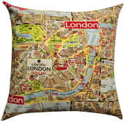 London Map Cushion Cover