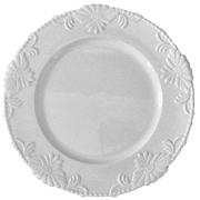 Floral Under Plate White