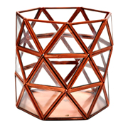 Geometric Copper and Glass Candle Votive