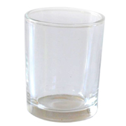 Glass Tealight Votive Small Smooth Straight