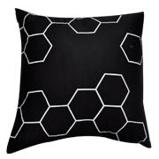 Hexagonal Print Cushion Cover