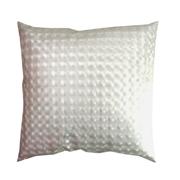 Hologram PVC Cushion Cover Pale Silver