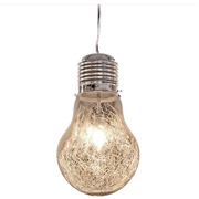 Light Bulb Pendant with Squiggly Filament X Large