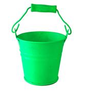 Lime Green Tin Bucket Mini Size