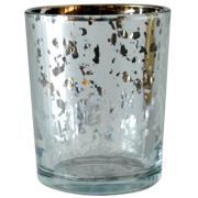 Mercury Glass Cylinder Votive Silver