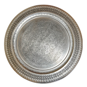 Moroccan Tray Silver Large