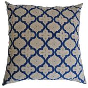 Moroccan Lattice Stone and Blue