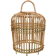 Rattan Thick Chicken Cage Natural Small
