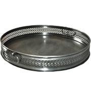 Round Engraved Metal Tray