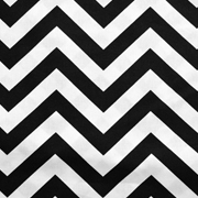 Runner Chevron Black and White Thin