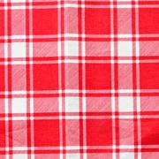 Runner Gingham Red Medium Square