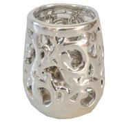 Silver Ceramic Tealight Votive