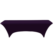 Standard Trestle Tablecloth Stretch Cover Purple