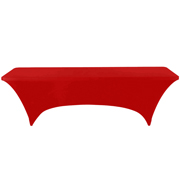 Standard Trestle Tablecloth Stretch Cover Red